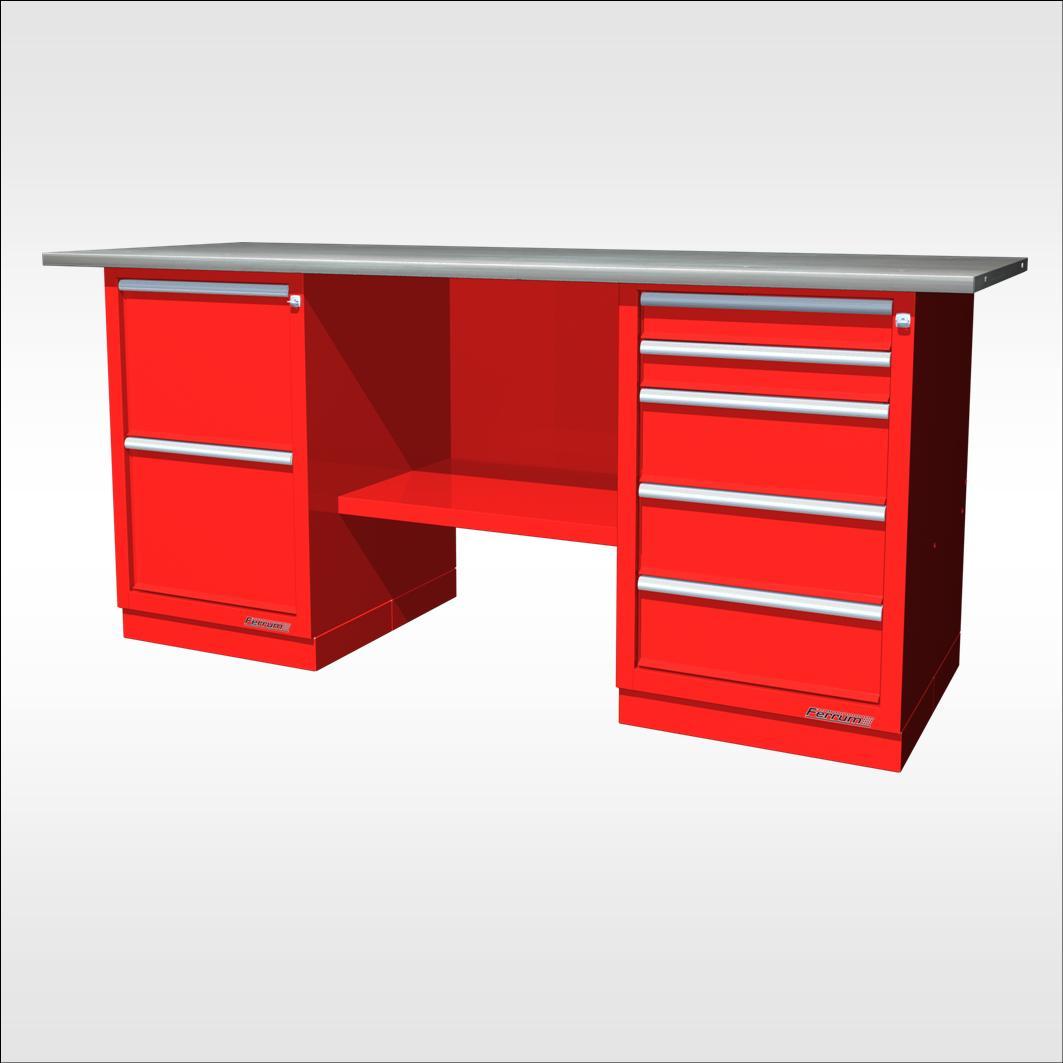 Tabli avec tiroirs lg 190 cm neuf equip 39 proequip 39 pro - Destockage mobilier bureau ...