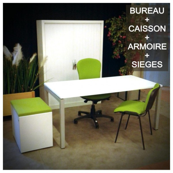 mobilier de bureau design poste complet equip. Black Bedroom Furniture Sets. Home Design Ideas