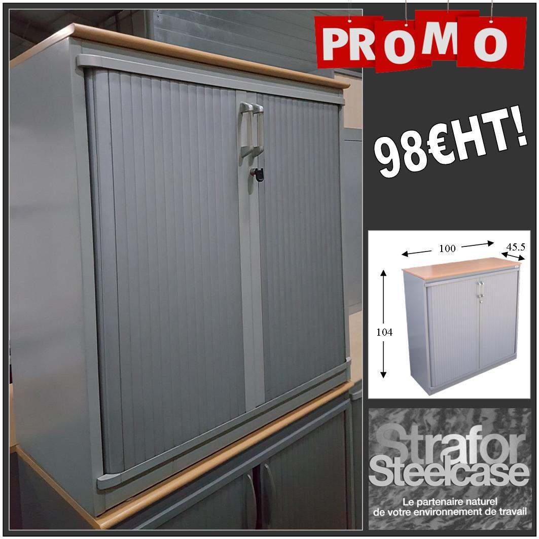 armoire basse à rideaux occasion Steelcase - Equip\'proEquip\'pro