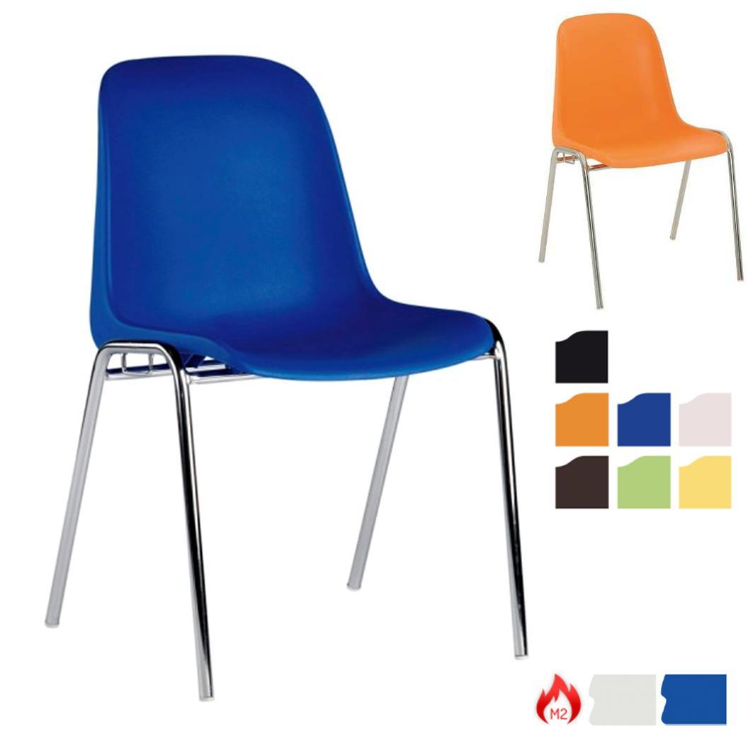 chaise empilable plastique