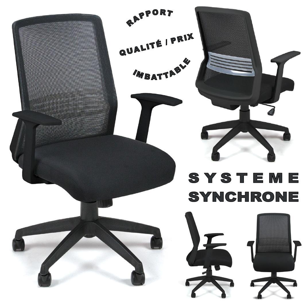 chaise de bureau dossier résille