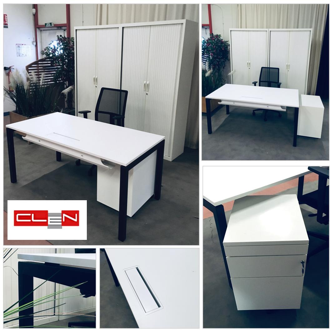 Bureau Noir Et Blanc bureau occasion blanc et noir 160 x 80