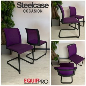 chaise visiteur occasion Steelcase