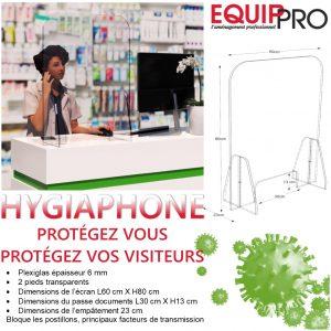 Hygiaphone plexi de protection covid19