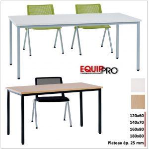 table modulable plateau 25 mm