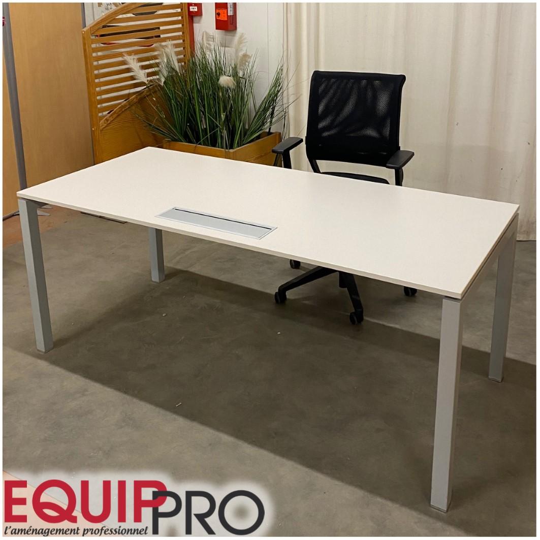 bureau blanc 180 x 80 occasion